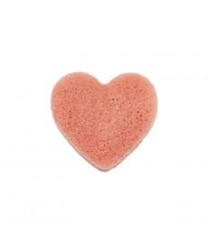 Éponge Konjac rose (forme coeur)